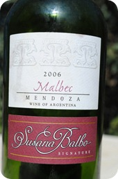 Dominio del Plata Susana Balboa Malbec 2006
